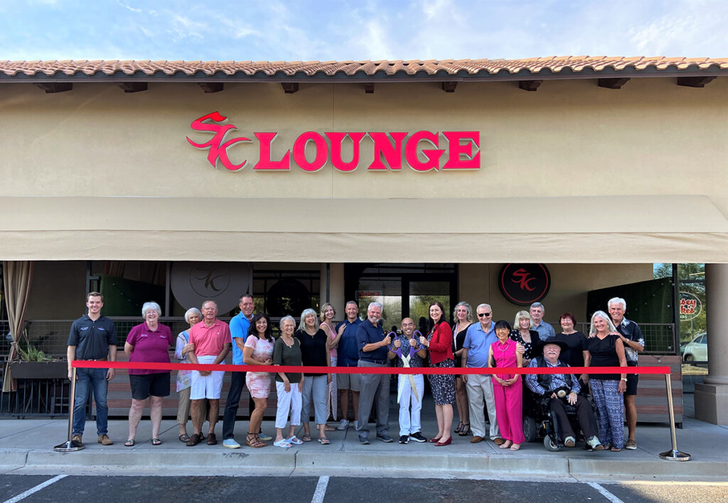 Surprise City Council and Saigon Kitchen cut a red ribbon for the grand opening of SK Lounge.